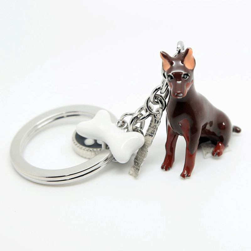 Brelok ANIMALS pies doberman - a'la charms
