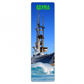 Bookmark for 3D book - Gdynia