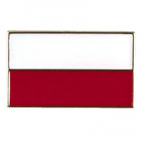 Flag of Poland straight - pin