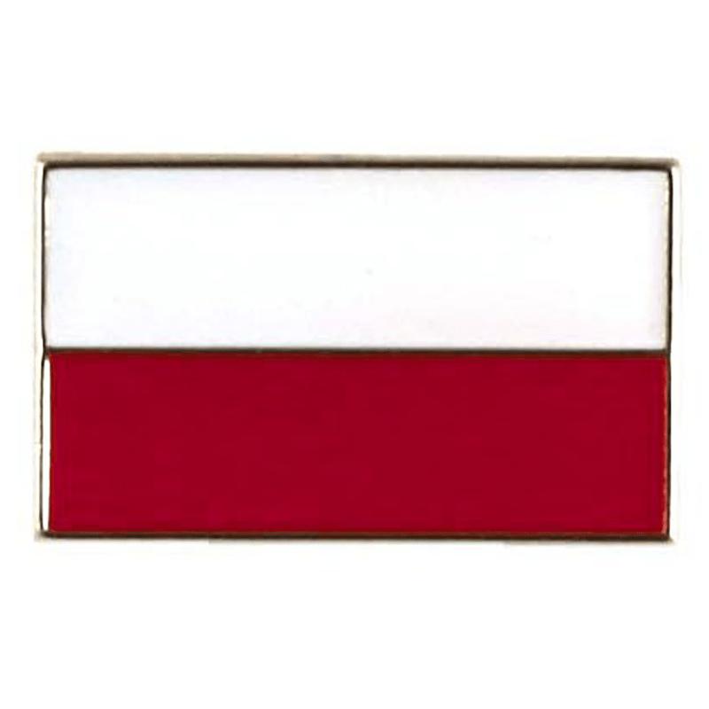 Boutons drapeau polonais, simple