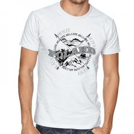T-shirt Poland wind rose white