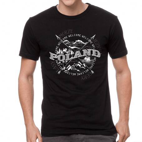 Tee shirt Poland rose du vent noir