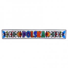 Magnes na lodówkę tablica rejestracyjna Folk Kaszubski