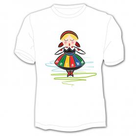 Kinder T-Shirt Polen Mädchen Folk
