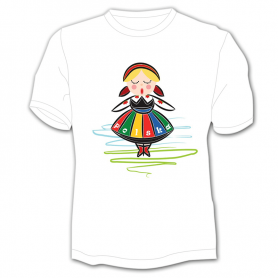 Tee shirt Enfant Pologne Fille folk