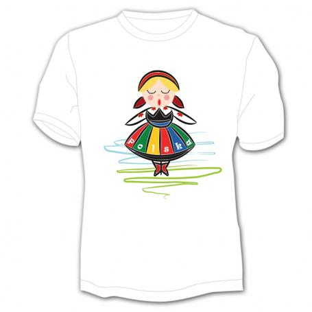 Camiseta infantil Polonia niña folk