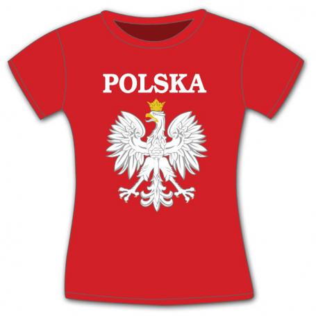 Camiseta de mujer Polonia. Águila.