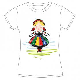 Koszulka damska Polska Dziewczynka folk