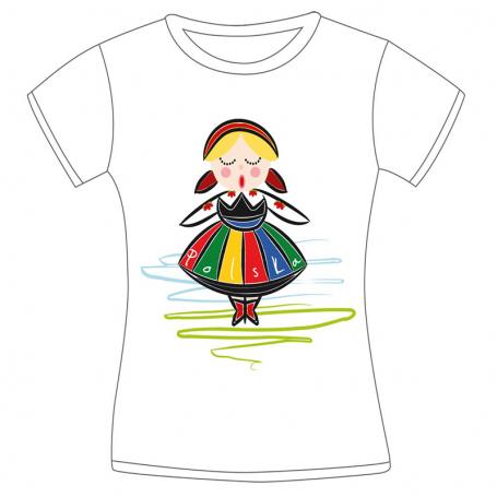 Camiseta mujer Polonia chica folk