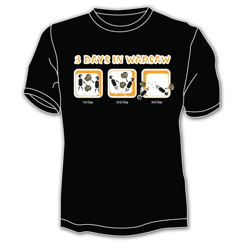 Koszulka Warszawa 3 dni