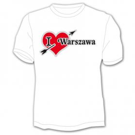 T-shirt I love Warsaw