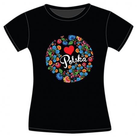 Lenkų moterų liaudies marškinėliai
