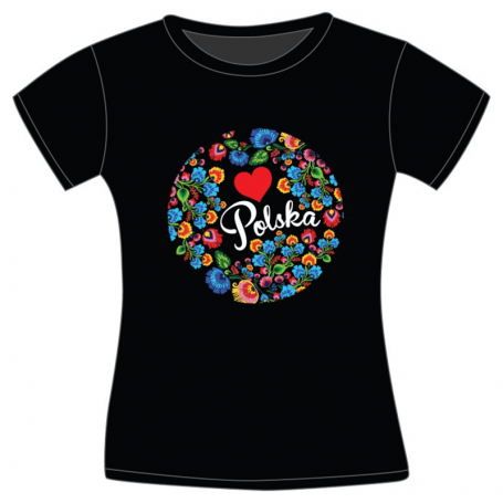 T-shirt Folk Polonais Femme