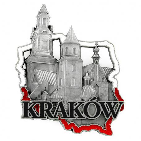 Metalowy magnes na lodówkę Kraków Wawel