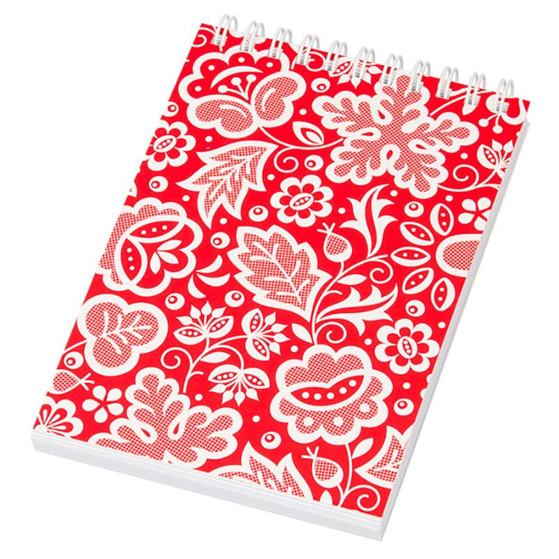 Notes A6 na spirali - kujawski czerwony
