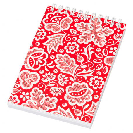 Cuaderno espiral A6 - Kujawski rojo
