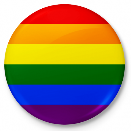 Button przypinka, pin flaga LGBT