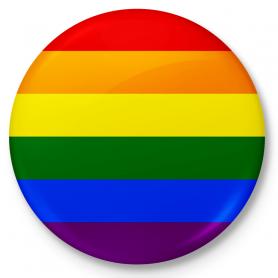 Knopf Kühlschrankmagnet LGBT-Flagge