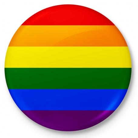 Botón de nevera imán bandera LGBT