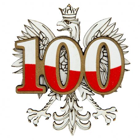 Imanes de nevera de madera 100 años de independencia