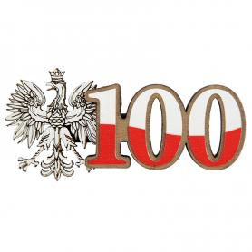 Kühlschrankmagnete aus Holz 100 Jahre Unabhängigkeit