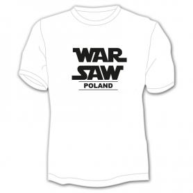 Koszulka Warszawa biała