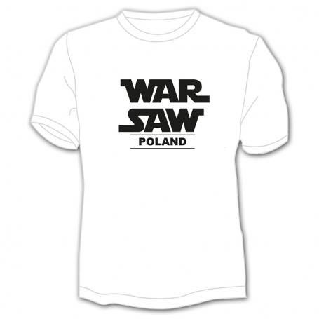 Marškinėliai Varšuva baltas