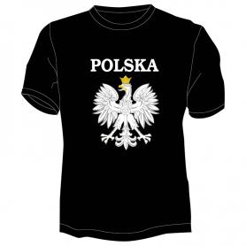 T-shirt Poland with black eagle