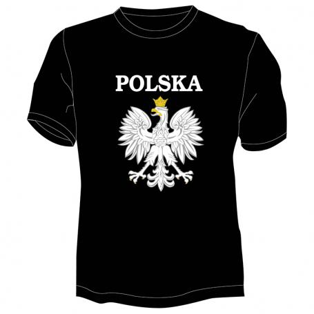 Koszulka Polska z orłem czarna