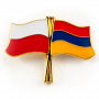 Broche, drapeau broche Pologne-Arménie