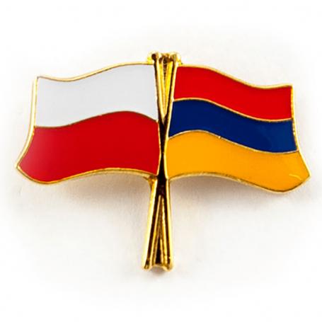 Przypinka, pin flaga Polska-Armenia