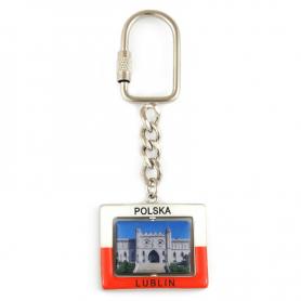 Porte-clés en métal, rotatif Lublin