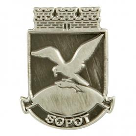 Pin, Pin Mantel Sopot - Silber