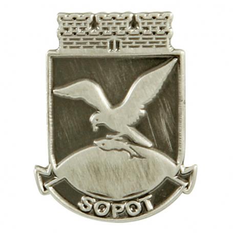 Pin, pin coat Sopot - plata