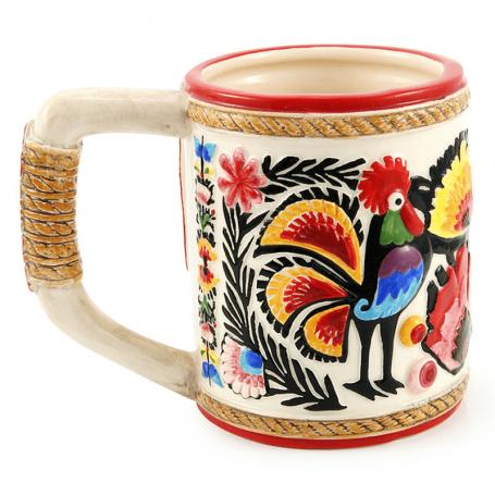 Glazūruotas puodelis lenkų liaudies