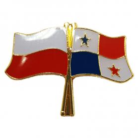 Przypinka, pin flaga Polska-Panama
