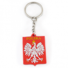 Keychain rubber emblem Poland
