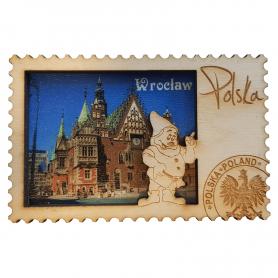 Aimants de réfrigérateur en bois Hôtel de ville de Wroclaw