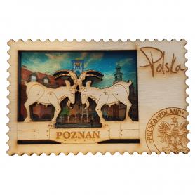 Magnes na lodówkę drewniany Poznań koziołki
