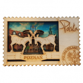 Wooden fridge magnets Poznań, goats