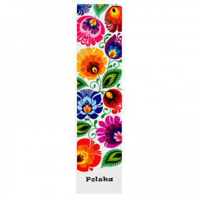 Bookmark for book - white Łowicz