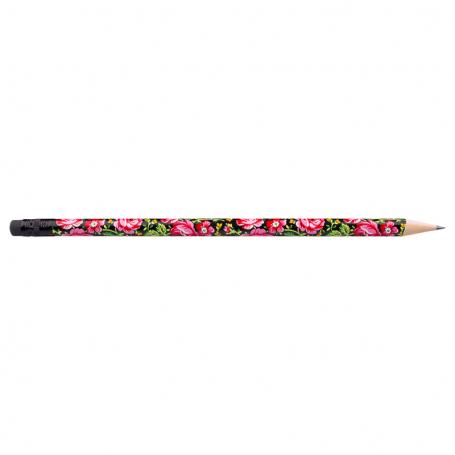 Crayon avec gomme - highlander noir