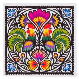 Бумажные салфетки - петухи от Łowicz