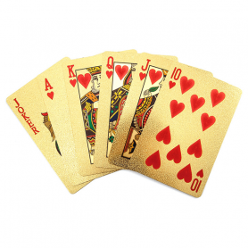 Ein Kartenspiel mit polnischen Spielkarten - Gold