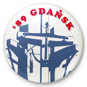 Button magnes na lodówkę '89 Gdańsk