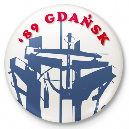Imán de nevera botón '89 Gdansk