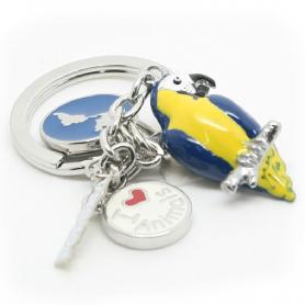 Porte-clés ANIMAUX perroquet - charmes a'la