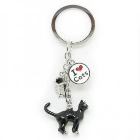 Schlüsselanhänger TIERE Katze - A'la Charms