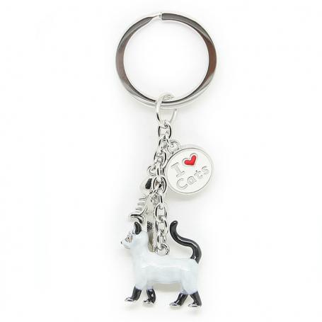 Porte-clés ANIMALS chat siamois - charmes a'la
