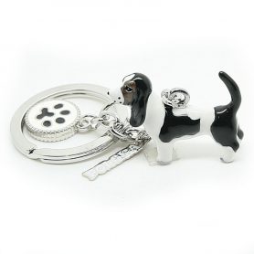 Brelok ANIMALS pies basset hound - a'la charms